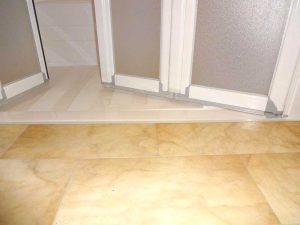 Douche Access avec receveur encastré de plain-pied Senior Bains