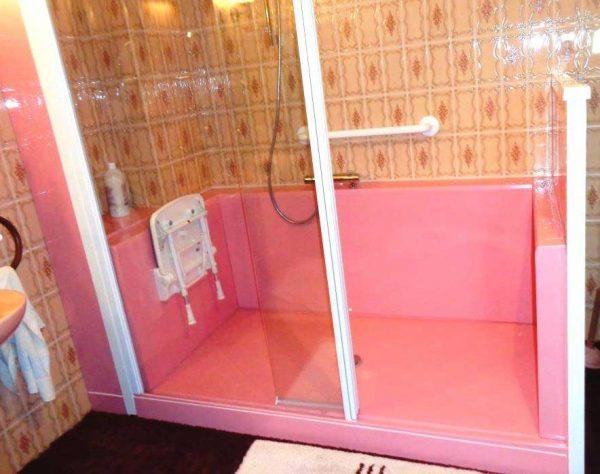 Douche confort pack rose clair senior bains