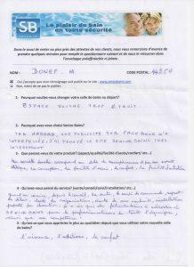 Témoignage de Mme DONEF (44), le 07/09/2016