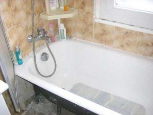 Avant l'installation de la colonne de douche hydromassante