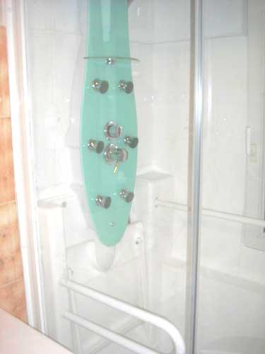 Profitez de la colonne de douche hydromassante en option avec la douche senior ACCESS