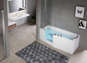 Combiné baignoire douche iris avec pare douche Senior Bains