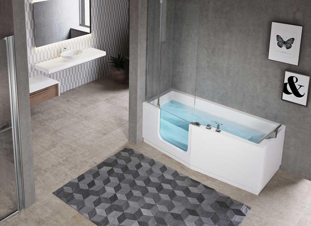 Combiné baignoire douche iris avec pare douche Sénior Douche
