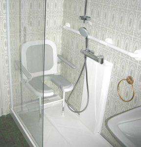 Installation d'une douche Hadapt sur mesure