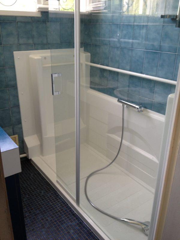 Avant/Après l'installation de notre douche senior Access